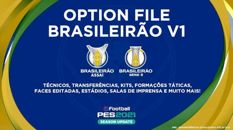 eFootball PES 2021 | Ya disponible el Option File del Brasileirão V1