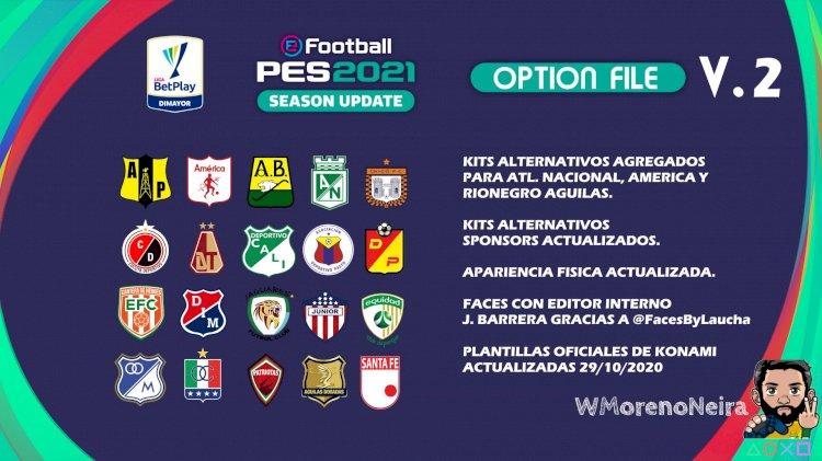 eFootball PES 2021 | Ya Disponible la V2 OF del OF de la Liga Colombiana