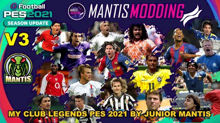 MyClub Legends Offline Mode eFootball PES 2021 PS4/PS5/PC V3 By Junior Mantis