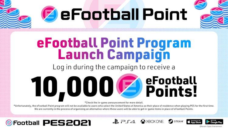 Puntos de eFootball + Campaña de vinculación de KONAMI ID