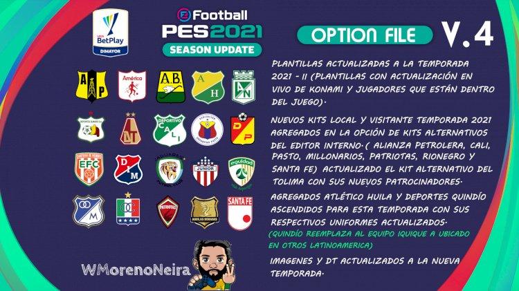 [NUEVO] Option File Liga Betplay 2021 - II | eFootball PES 2021